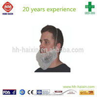 Nonwoven disposable surgical mask beard cover