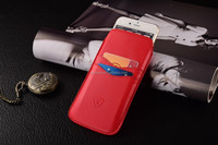 Red PU leather housing, pouch for iphone, slip in function