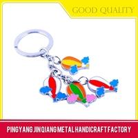 Novelty fashion enamel no minimum custom logo keychains