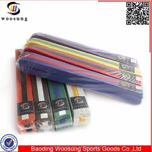 Martial art stripped taekwondo karate color belt taekwondo wholesale