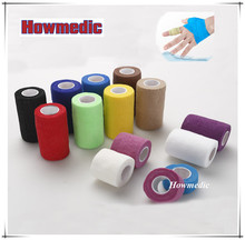 Cheap Medical Disposables Surgical Colorful Cohesive Elastic Skin Color Adhesive Bandage
