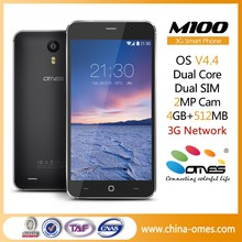 SHENZHEN Factory OEM M100 5 inch 2.5D Glass Screen dual core android 3G best china smart phone