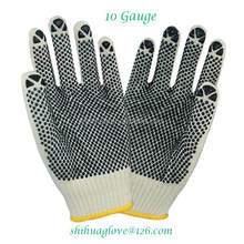 china pvc dot cotton glove