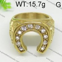 2015 dorado sola anillo 15.7 g diamond indian anillos en la nariz