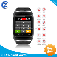 S12 bluetooth digital touch screen gsm smart phone watch