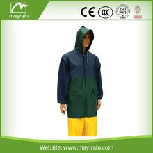 cheap fashional 100% waterproof pvc outdoor men jacket with hood