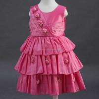 2015 New Product! Casual Sleeveless Flower Girl Dress India Wholesale