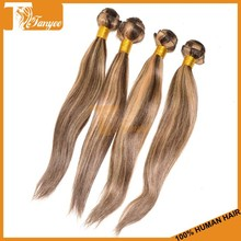 Luxury lady hair weaving human malaysian silky straight mixed color remy hair extensions 4 27 hair weaves