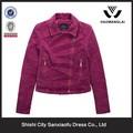de color púrpura de otoño el último corto de gamuza damas chaquetas