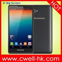 Original Lenovo A889 Android 4.2 MTK6582 Quad Core 6 inch big touch screen mobile phone 8GB ROM 8.0MP Camera WIFI GPS