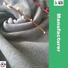 Factory Price Cotton Fleece(interlock) Fabric, Knit Fleece Fabric