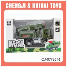 1 32 scale alloy metal pull back power mini truck model missile car for kids