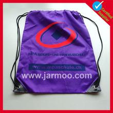 Purple custom logo sport bags in plastic