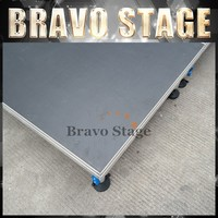 Bravo Trussred stage curtain portable concert dj stage for sell