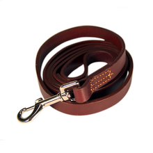 naturally vegetable tanned leather strap for dog running leather leash