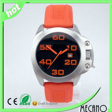 2014 new design simple wristwatch with silicone wristwatch strap and stainless steel wristwatch from China watch manufacturer