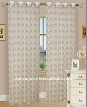 organza stipe curtain