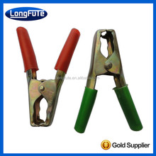 China iron insulated battery alligator clips with copper plated and crocodile clamps