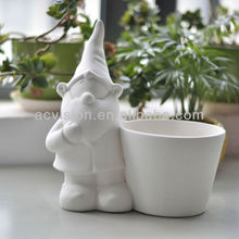 hand paint Flower Pot,diy gnome, dolomite gnome for garden and home