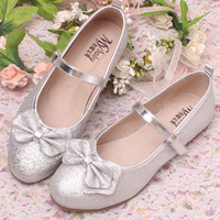 Sokoll Glitter Silver Girls Belly Shoes