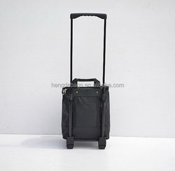 Good quality hot selling wheeled backpack nylon luggage