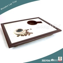 Wooden Lap Tray with Cup Holder