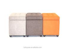 square storage stool decorative ottoman