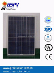 Top supplier high efficiency 100w poly solar panel