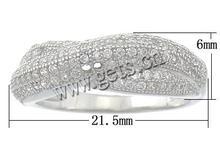 Anillo de dedo de la plata esterlina de micro-pavé zirconía cúbica