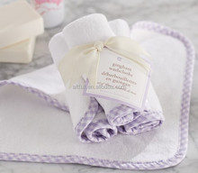 Buy direct from china factory 100% bamboo baby wash cloth with binding and private logo