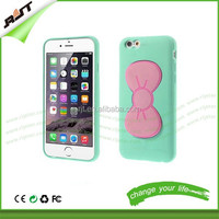 Cell phone case for iphone 5 5s,cute bowknot silicone mobile phone cover bowknot stents case for iphone 6