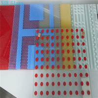 high quality glazed colored glass for windows and doors