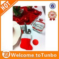 christmas stocking Santa silverware holder