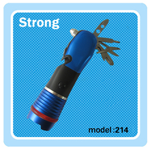 emergency hammer LED Multifunction flashlight with screwdriver,bottle opener,scissors etc.