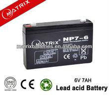 Alibaba 6V 7AH electric car batteries sale