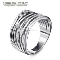 Neoglory Personalized Exquisite Design Rhinestone Wedding Womens Rings Platinum Plated Wholesale 2015 New