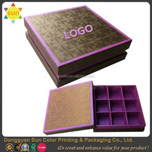 High quality paper chocolate box personalized chocolate packaging box wholesale