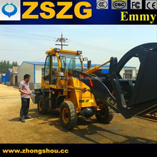 Best Price wheeled loader ZL-18, quich hitch with grass fork attachment