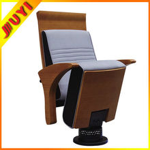JY-955 Cheap Recliner English Movies Wood Part High Outdoor Concert Wooden School Meeting Room Chair Folding Theater Seats