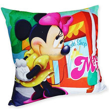 Household adornment Cotton linen Mickey Mouse cartoon Cute pillow Back Cushion