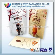 Kraft paper bag for food/food grade aluminum pouch/resealable food bag