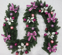Cheap Christmas Plastic Decorated artificial Garland rime Wreath Rattans