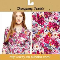 Custom various flower printed new modern design silk chiffon fabric China