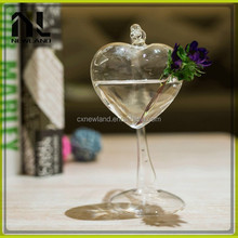 Heart star shape wholesale cheap home party chinese modern table decoration glass vase