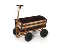 wooden toy pull cart,Bollerwagen Wooden Cart