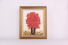 Modern decoration flower oil painting with picture frame