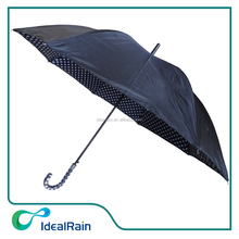 23inch double canopy polka dot inside walker umbrella for rain