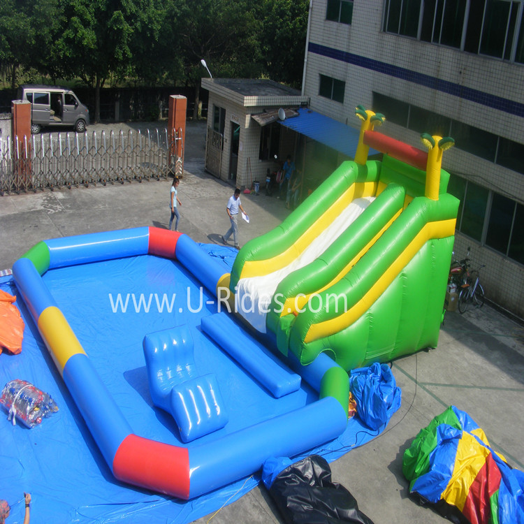 2015 Hot Giant Swimming Pool Inflatable Slide For Sale Buy Inflatable Slide Inflatable Slide