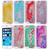 Hot sale Flowing Liquid Floating Luxury Bling Glitter Sparkle heard Hard Case for Iphone 6