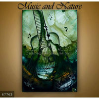 Handmade abstract paintings musical instruments Guitar Art on canvas,Music and Nature